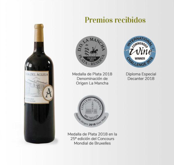 premios recibidos para vino tinto casa del aguila