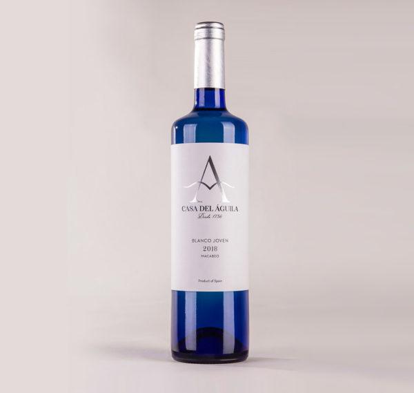 Vino blanco casa del aguila blanco joven 2018 macarebo
